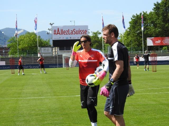 スイス代表の練習風景
