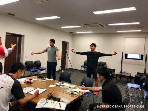 セレッソ大阪スポーツクラブでのデモ・講習会