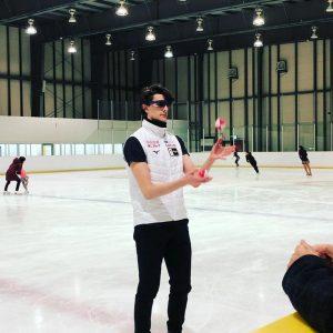 氷上でのトレーニング風景